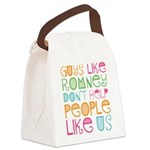 Guys Like Romney Canvas Lunch Bag