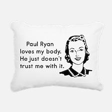 Paul Ryan Loves My Body Rectangular Canvas Pillow