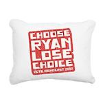 Choose Ryan Lose Choice Rectangular Canvas Pillow