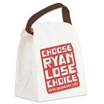 Choose Ryan Lose Choice Canvas Lunch Bag