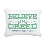 Believe in Greed Rectangular Canvas Pillow