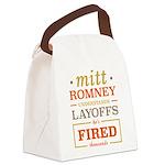 Romney Layoffs Canvas Lunch Bag