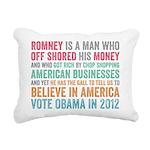 Anti Romney Believe Rectangular Canvas Pillow