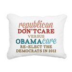 Obamacare vs Dont Care Rectangular Canvas Pillow