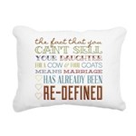Marriage Re-Defined Rectangular Canvas Pillow