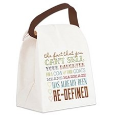 Marriage Re-Defined Canvas Lunch Bag