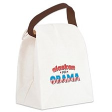 alaskan for Obama.png Canvas Lunch Bag