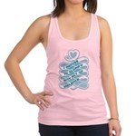 Glorify Violence Banner Blue.png Racerback Tank To