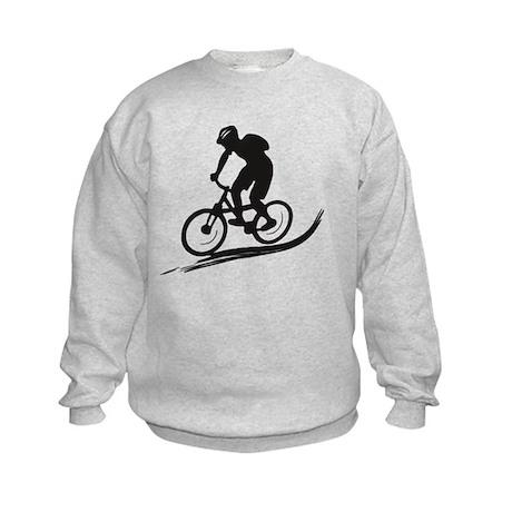 biker mtb mountain bike cycle downhill Kids Sweats