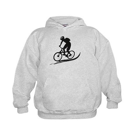 biker mtb mountain bike cycle downhill Kids Hoodie