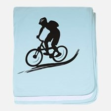 biker mtb mountain bike cycle downhill baby blanke