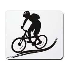 biker mtb mountain bike cycle downhill Mousepad