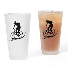 biker mtb mountain bike cycle downhill Drinking Gl