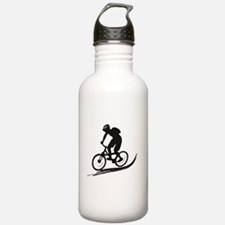 biker mtb mountain bike cycle downhill Water Bottle