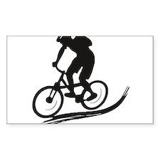 biker mtb mountain bike cycle downhill Decal