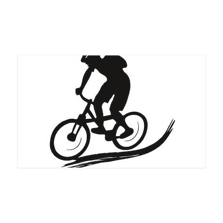 biker mtb mountain bike cycle downhill 35x21 Wall