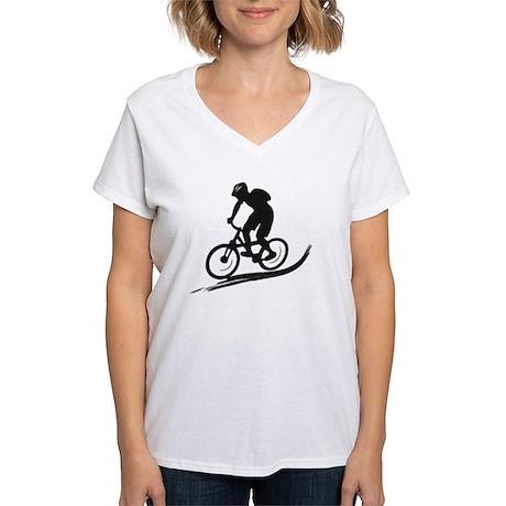 biker mtb mountain bike cycle downhill Women's V-N