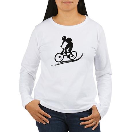 biker mtb mountain bike cycle downhill Women's Lon
