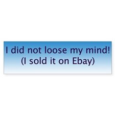 Ebay Bumper Car Sticker