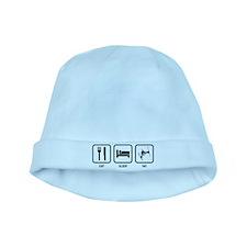 Eat Sleep Ski baby hat