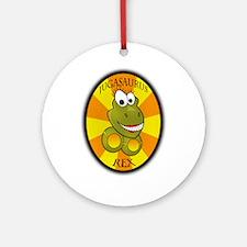 Jugasaurus Rex Dinosaur Ornament (Round)