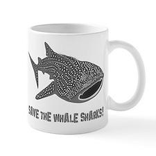 whale shark diver diving scuba Mug