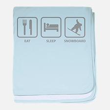 Eat Sleep Snowboard baby blanket