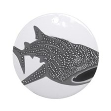 whale shark diver diving scuba Ornament (Round)