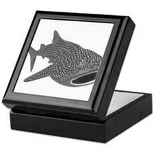 whale shark diver diving scuba Keepsake Box
