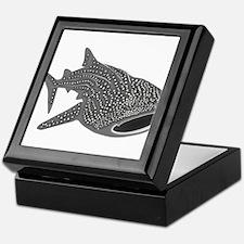 whale shark diver diving scuba Keepsake Box