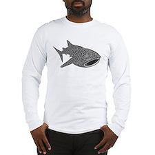 whale shark diver diving scuba Long Sleeve T-Shirt