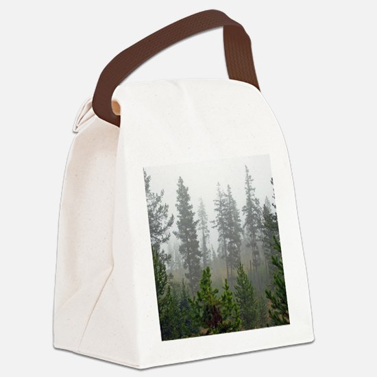 Misty forest Canvas Lunch Bag