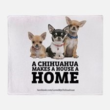 Home with Chihuahuas Throw Blanket