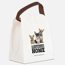 Home with Chihuahuas Canvas Lunch Bag