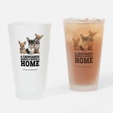 Home with Chihuahuas Drinking Glass