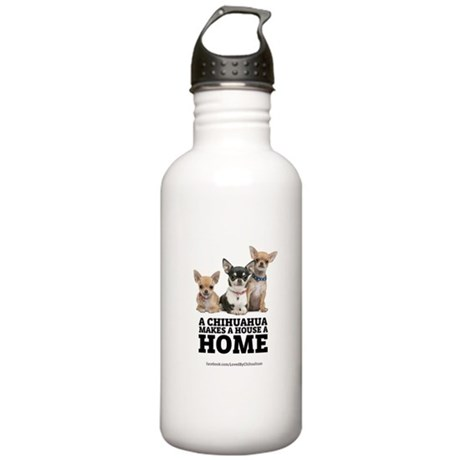 Home with Chihuahuas Stainless Water Bottle 1.0L