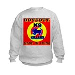 Boycott Made In China K9 Kill Kids Sweatshirt
