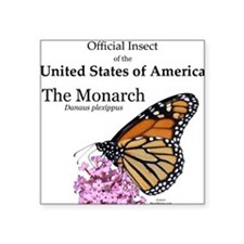 "Monarch Butterfly Square Sticker 3"" x 3"""
