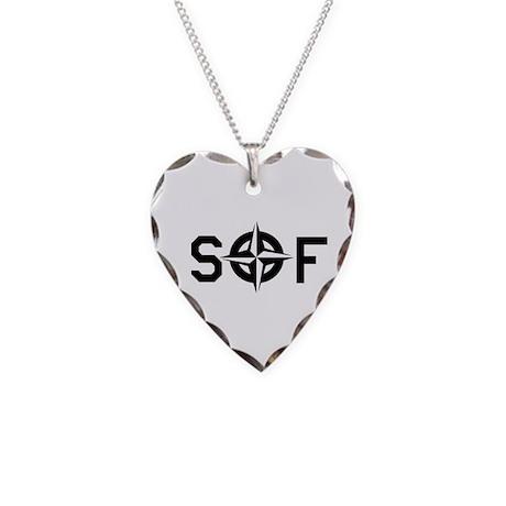 NATO SOF Necklace Heart Charm