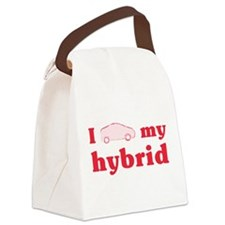 I Love My Hybrid transparent.png Canvas Lunch Bag