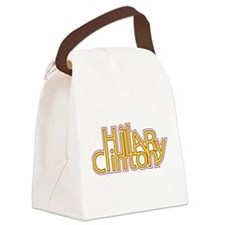 Typographic Hillary.png Canvas Lunch Bag