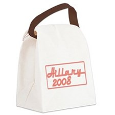 Hillary red neon sign.png Canvas Lunch Bag