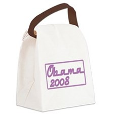 Obama purple neon sign.png Canvas Lunch Bag