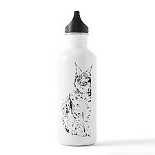 lynx cougar wild cat bobcat Sports Water Bottle