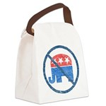 anti republican2 black tee.png Canvas Lunch Bag