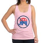 anti republican2 black tee.png Racerback Tank Top