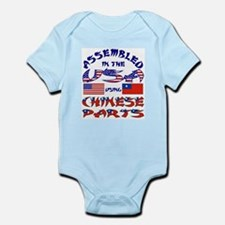 USA / Chinese Parts Infant Creeper