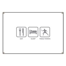Eat Sleep Table Tennis Banner