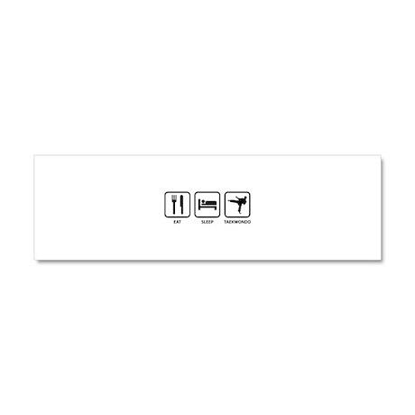 Eat Sleep Taekwondo Car Magnet 10 x 3