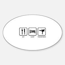 Eat Sleep Taekwondo Sticker (Oval)